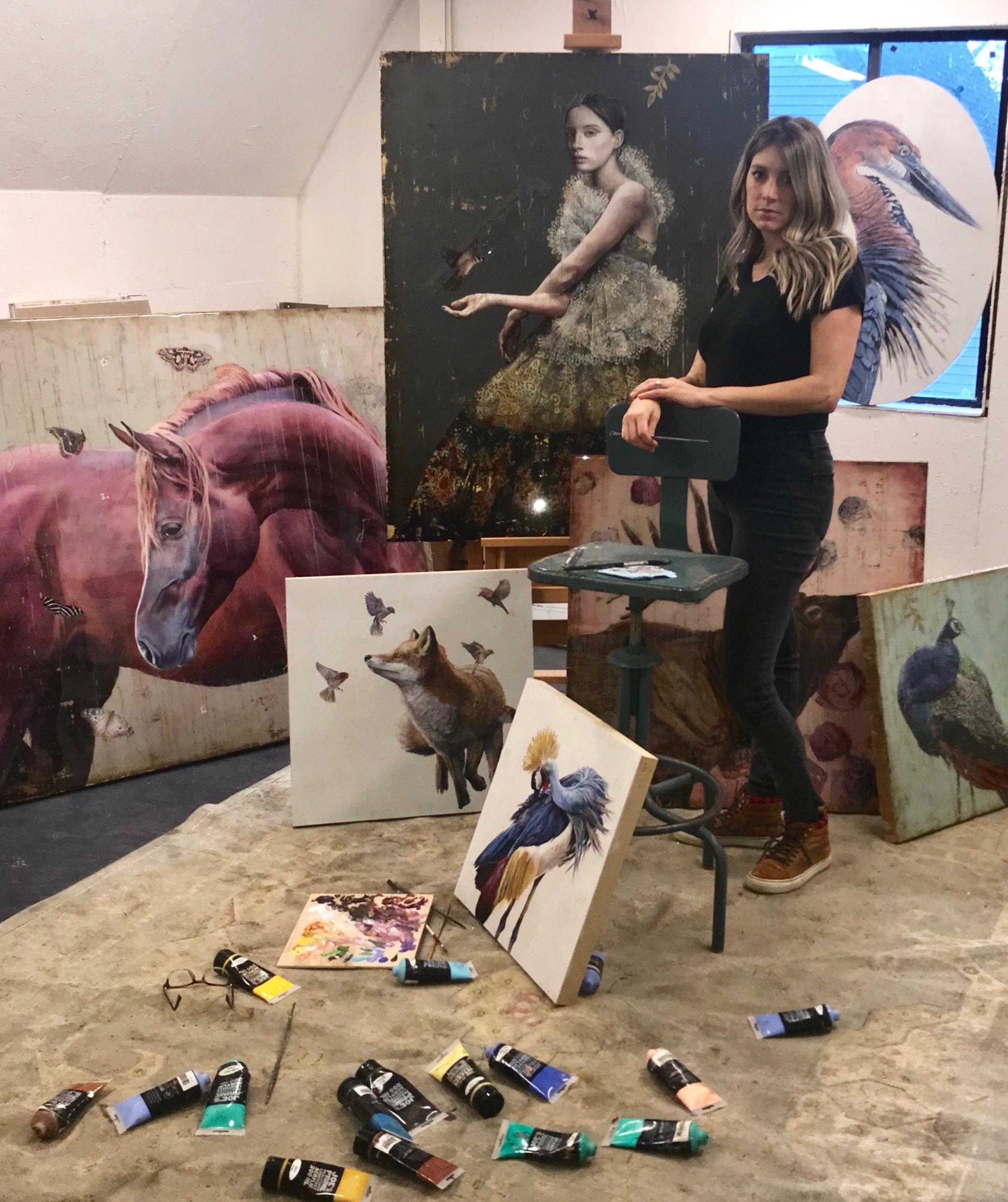 sarah helser in her charlotte, nc studio
