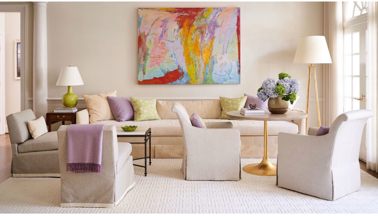 painting by herb jackson + design by  patrick lewis  interiors