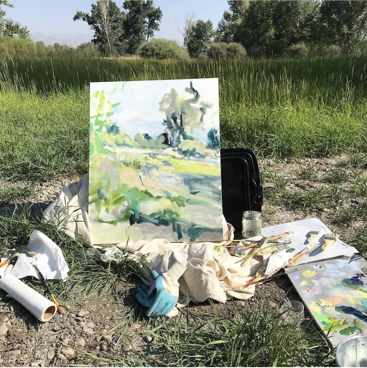 susan mcalister en plein air painting