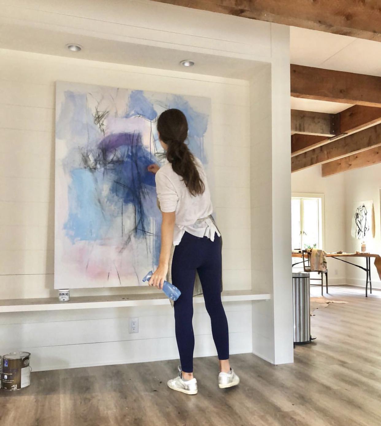 kate long stevenson in her charleston, sc studio