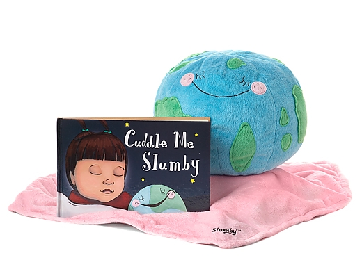 Cuddle me Slumby by SLUMBY Inc. and illustrated by Kimberly Soderberg. Published in 2012. Purchase Slumby  here