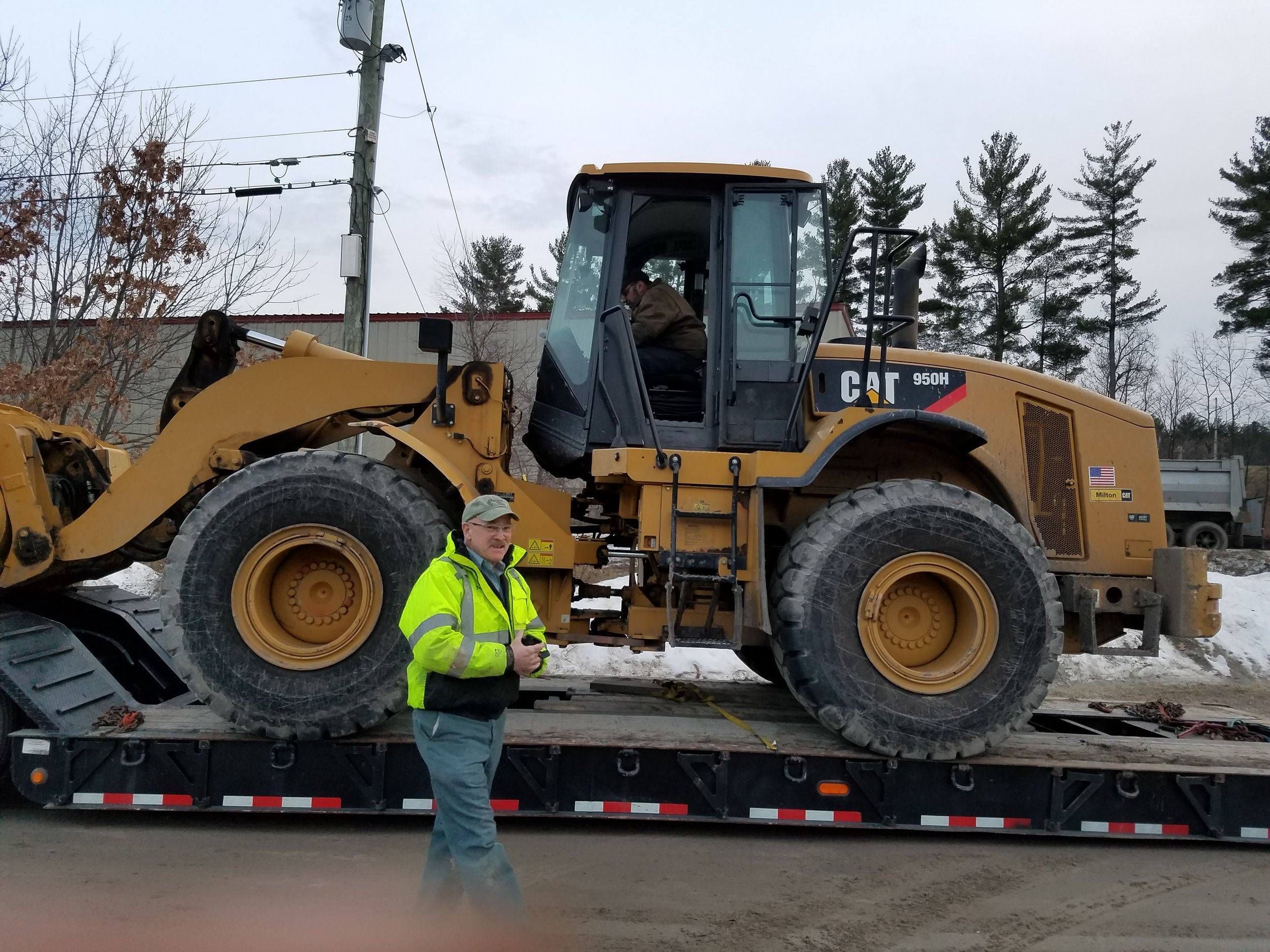 This CAT Wheel Loader - this replaces our smaller loader allowing us to be more efficient in the log yard.
