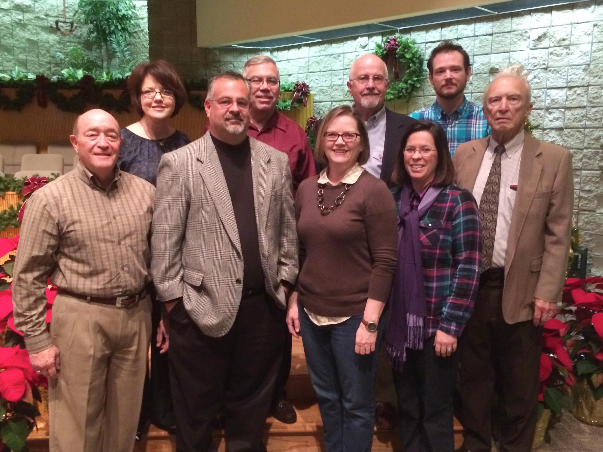 (Back Row): Ann Dunagin, Stan Barton, Jerry Sparks, Joey Pyle (Front Row): Jerry Bowerman, Monty Klepper, Shryln Treadwell, Beth Humphries, Duane Jone (Not Pictured): Nelda Kirk