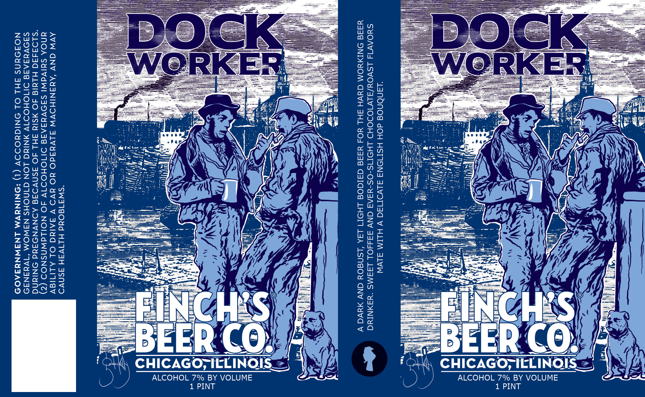 Dock Worker label design by Gaelan Kelly