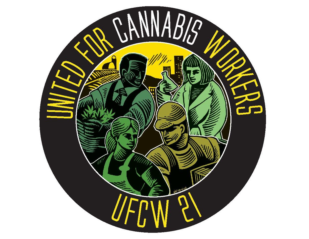 2019 UFCW 21United for Cannabis Workers logo ideas.jpg