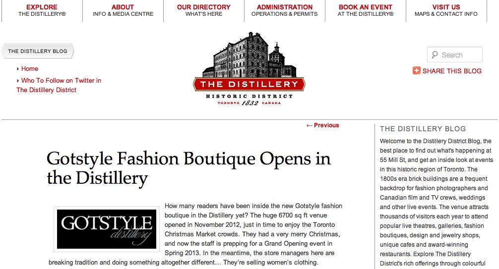 Gotstyle Distillery on The Distillery District Blog
