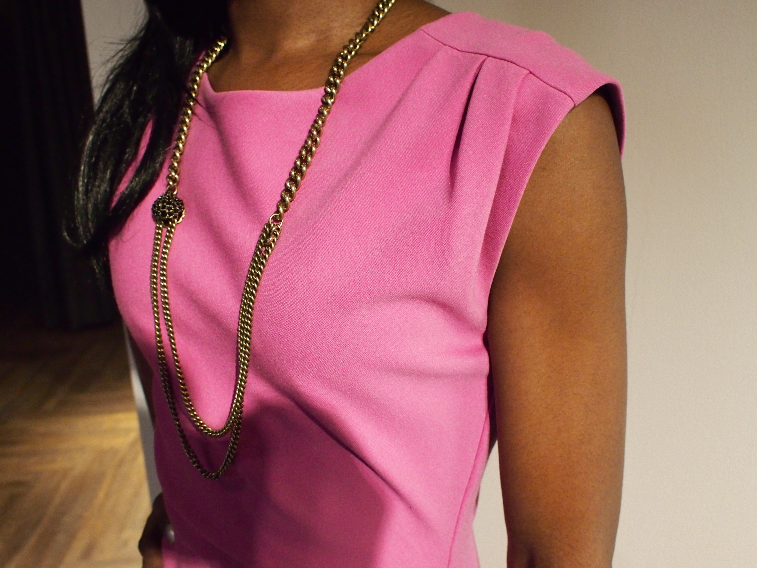 Paired with a gold chain necklace by Giles & Brothers $258