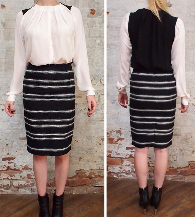 Malene Birger Tidra shirt $325. Malene Birger skirt $290.