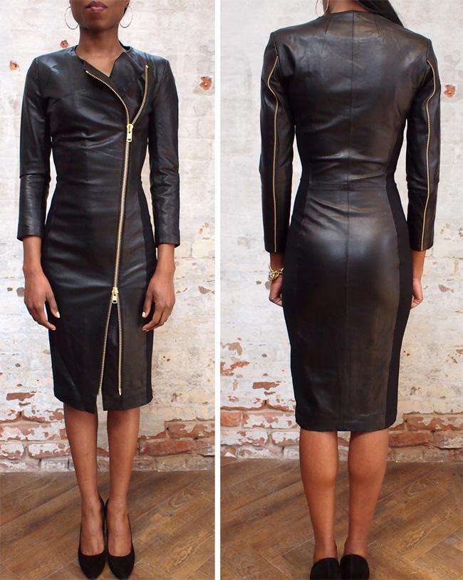 Malene Birger Mallisia leather dress $825.