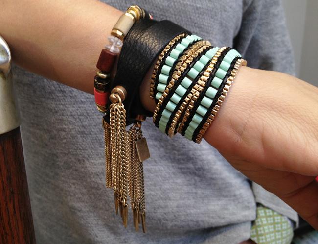 Tibetlove bracelet $60, Triple Wrap bracelet $85, double wrap bracelet $80,