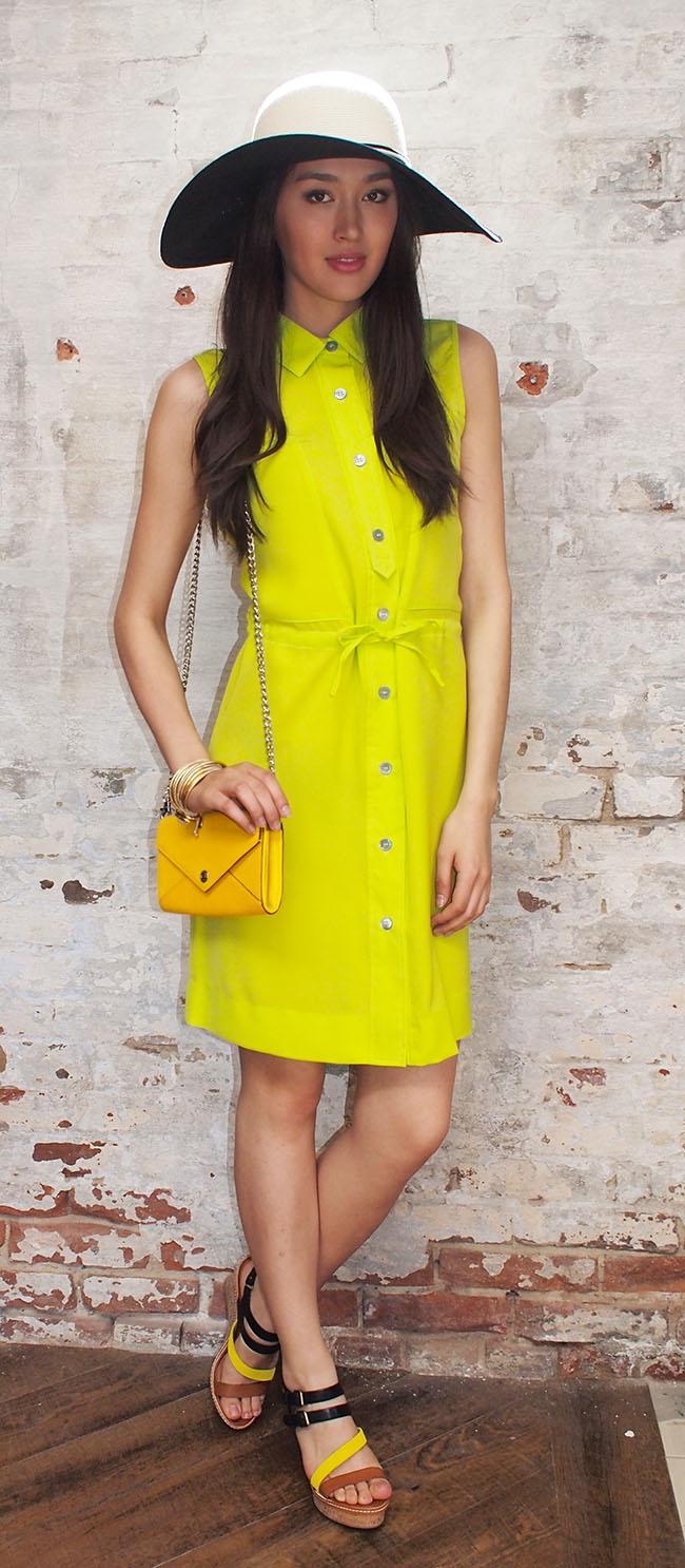 Moon dress $145,Eugenia Kim hat $305,Rebecca Minkoff bag $225,Dolce Vita shoes $115