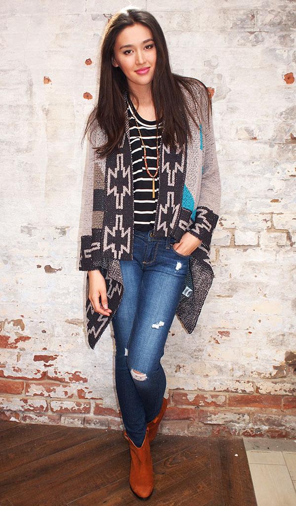 Line sweater $208,Kain t-shirt $95,Paige jeans $259,Ganni boots $324
