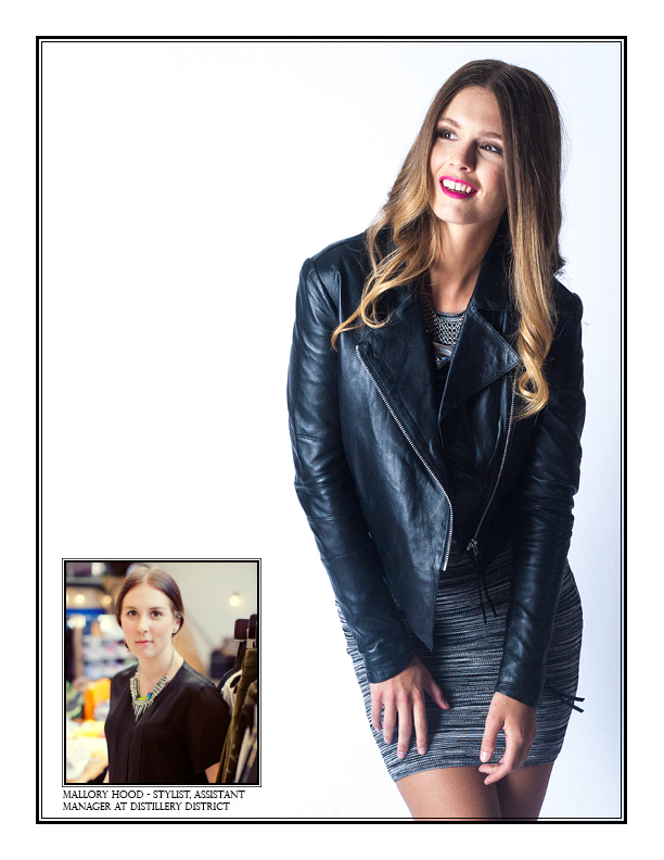 Featuring Tiger of Sweden Carrie Leather Biker Jacket $599; Torn by Ronny Kobo Malena Dress $378