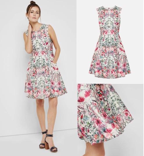 Floral Fit & Flare Dress $389