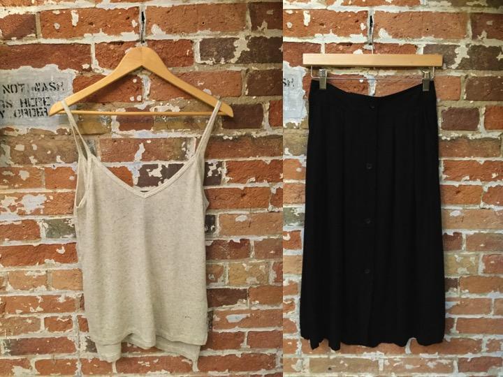 LNA Linen Tank $105 American Vintage Skirt $148
