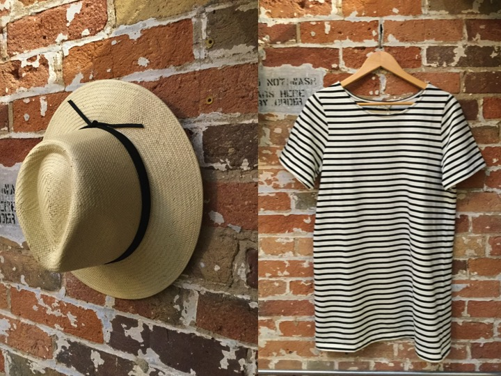 Brixton Straw Hat $95 American Vintage Stripe Dress $148