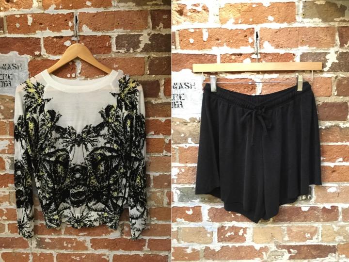 John & Jenn Palm Sweater $149 American Vintage Shorts $148