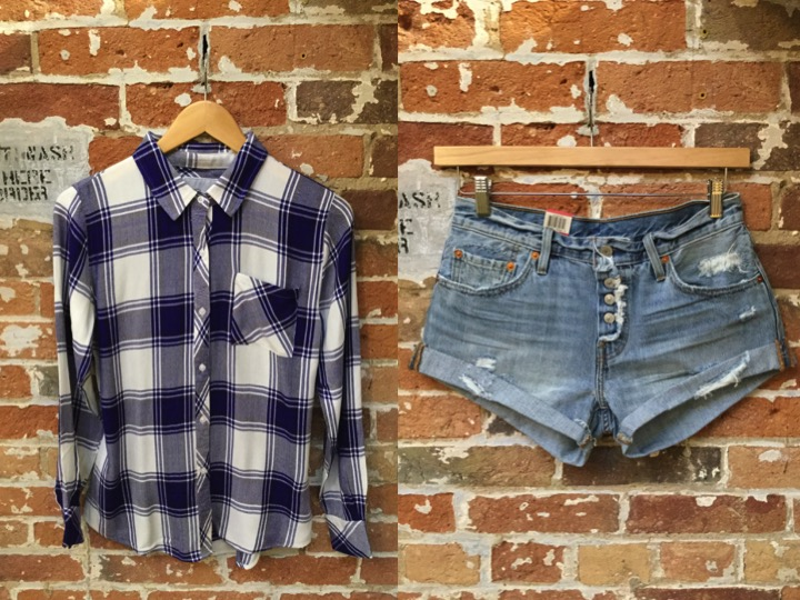 Rails Hunter Plaid Shirt $215 Levi's Cutoffs $79