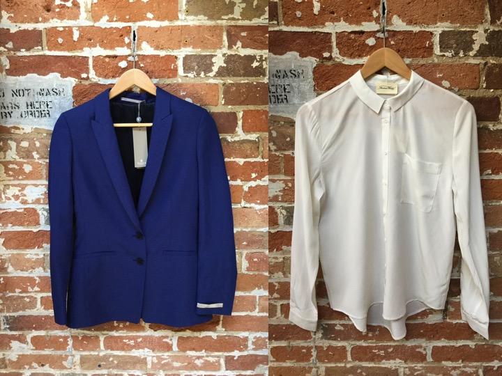 Tiger Of Sweden Blazer $489 American Vintage Silk Blouse $220