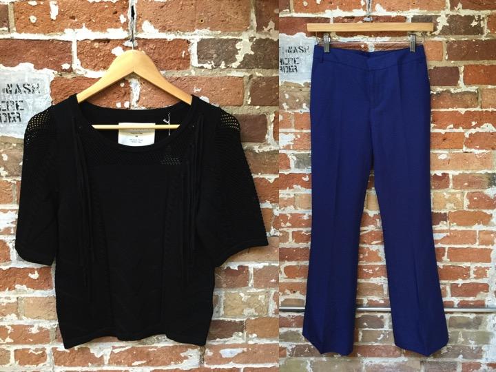 Fine Collection Fringe Sweater $175 Tiger Of Sweden Wide Leg Trouser $249