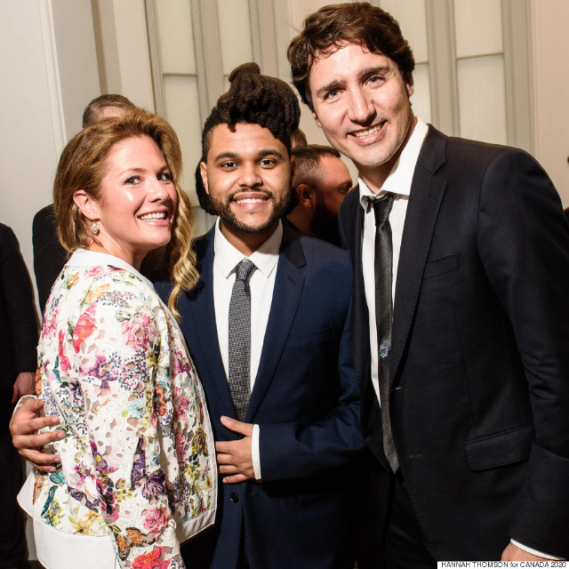 Sophie Trudeau sporting the Yazmin jacket while visiting the White House with her husband Justin Trudeau & The Weeknd