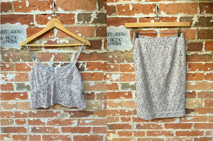 Jesse Rowes Lace Crop Top $160 Jesse Rowes Lace Skirt $180