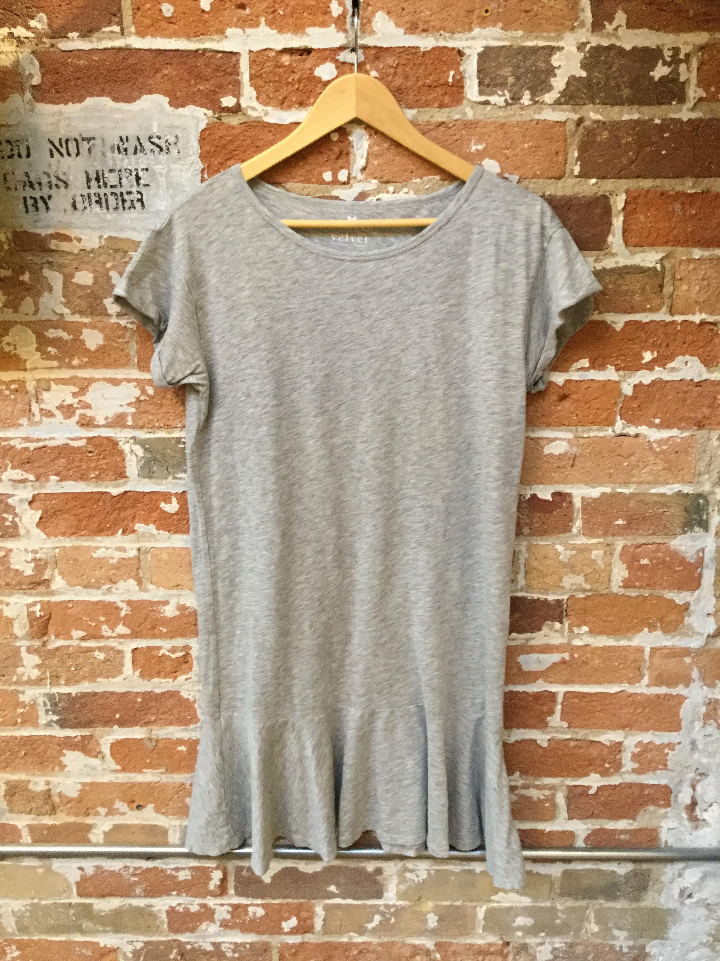 Velvet cotton dress $168