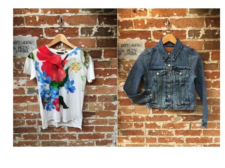 Ted Baker Floral Tee $85 Levis Denim Jacket $108