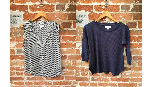 Velvet Sleeveless Blouse $138 Velvet Thermal Sweater $138