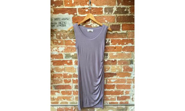 Velvet Ruched Dress $218