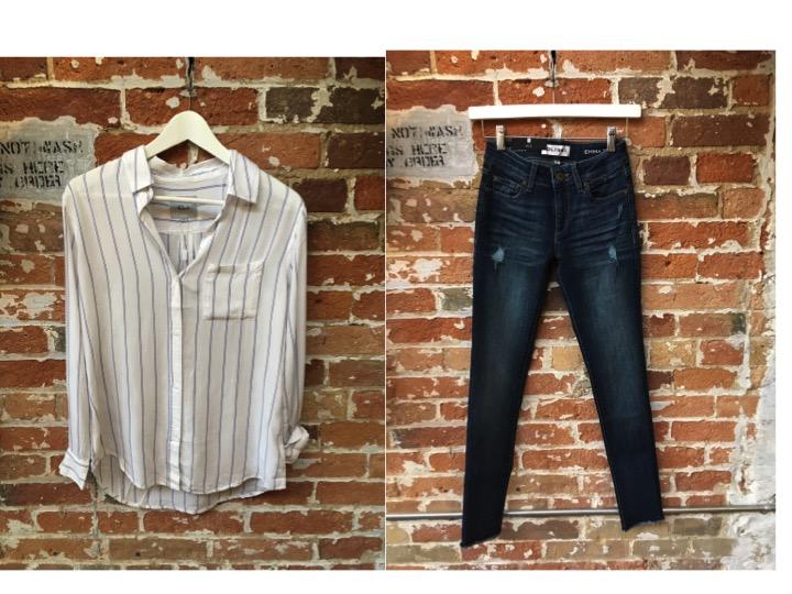 Rails Stripe Button Down $215 DL 1961 Emma Jeans $265