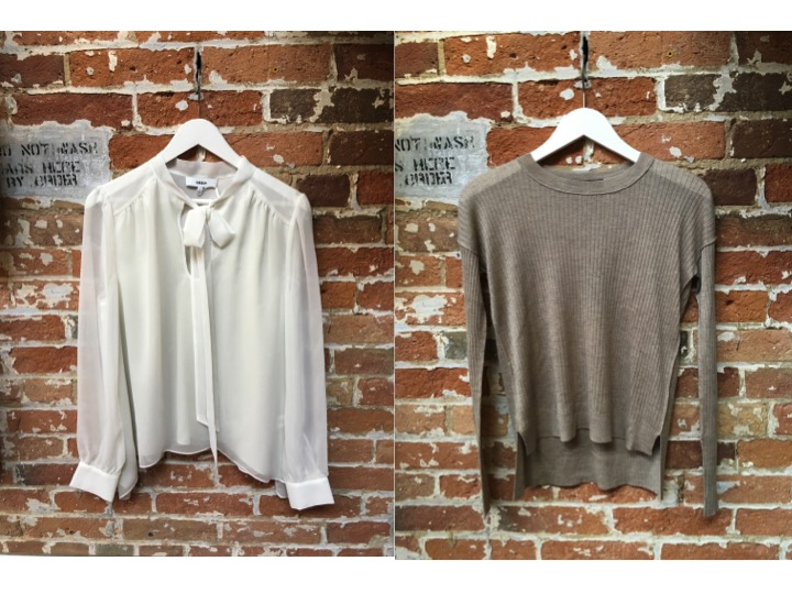 Likely Bow Blouse $235 Line Thin Knit $199