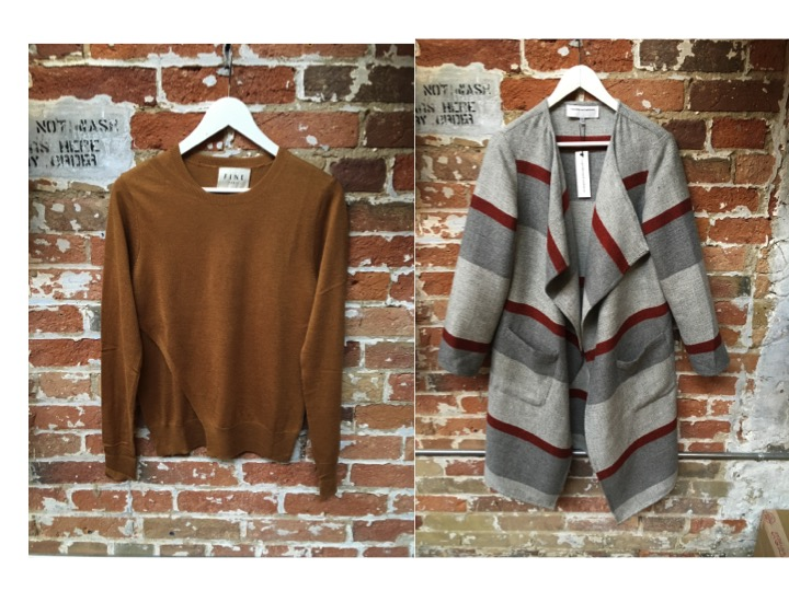 Fine Collection Double Sweater $178 Cupcakes & Cashmere Open Cardigan $248