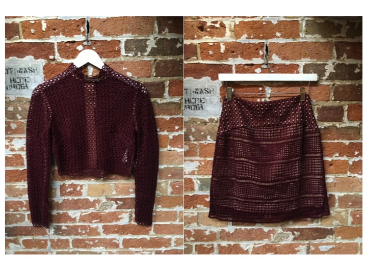 Keepsake Set: Top $225 Skirt $240  ***Great for mixing and matching
