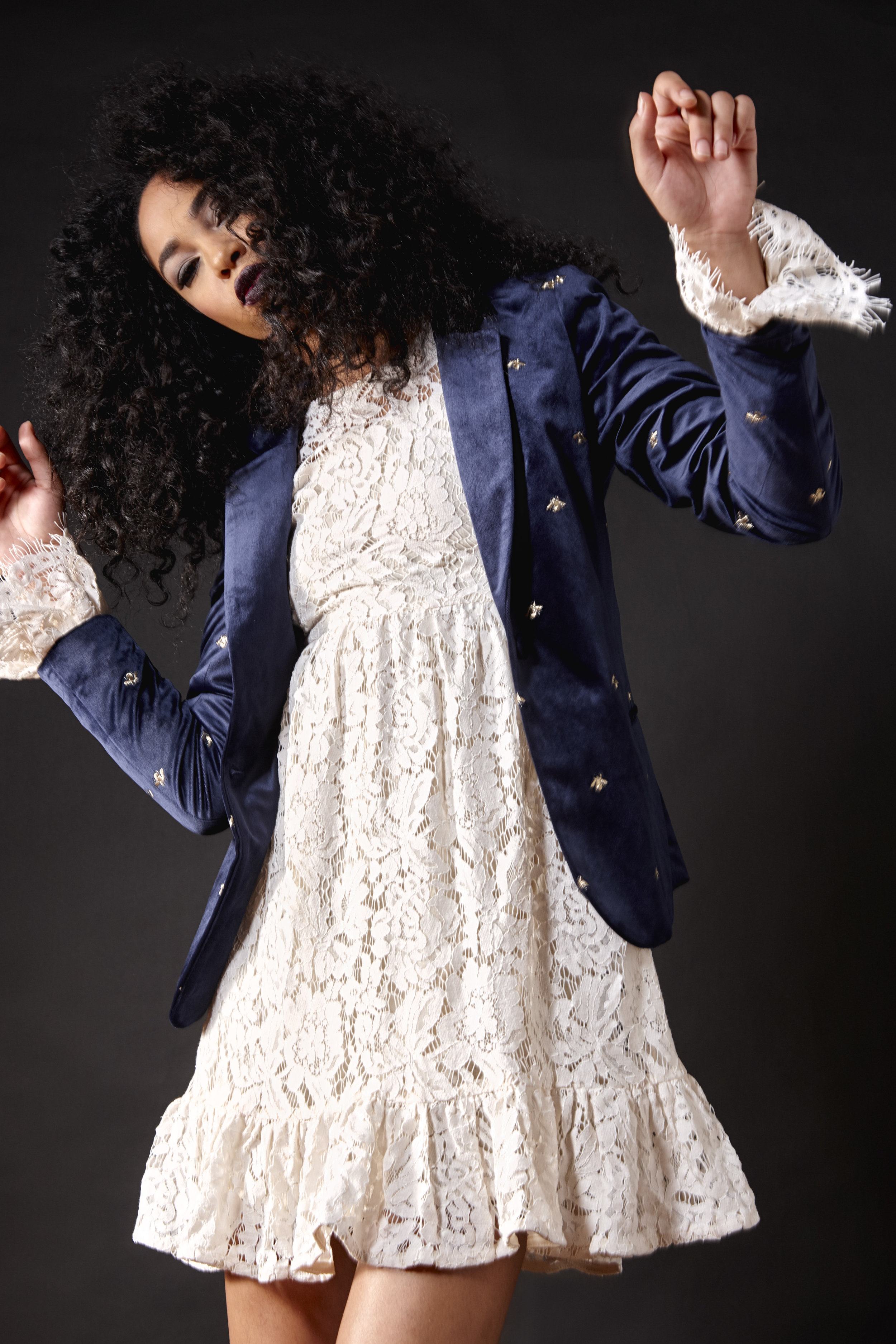 Maison Scotch Embroidered Blazer $269 Dry Lake Lace Dress $149