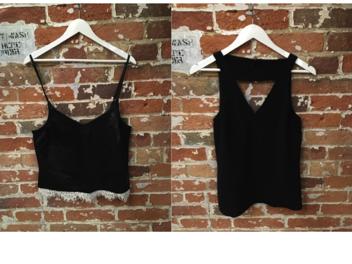 La Marque Leather Camisole  $210   ** La Marque's pieces are made in CANADA yay! Cameo Cut Out Tank $190