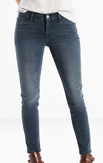 """710 Super Skinny Jean in Smoke story – a grey blue wash that is so refreshing, stretch heavy denim, mid rise and our skinniest leg opening at 9.5"""""""
