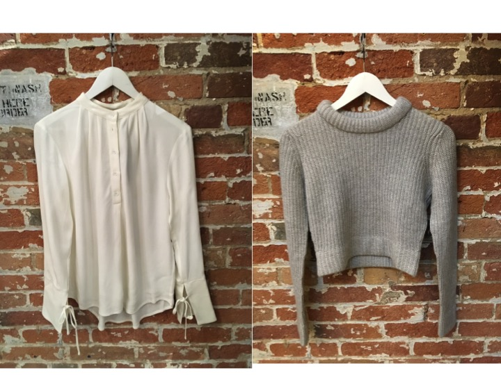 Tiger of Sweden Bell Sleeve Blouse $199 Autumn Cashmere Cropped Sweater $295