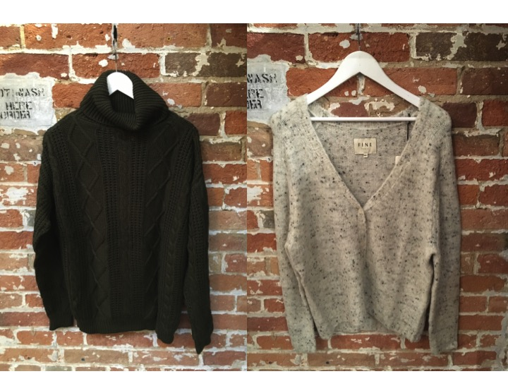 Dry Lake Turtleneck $159 FINE Collection Cardigan $258