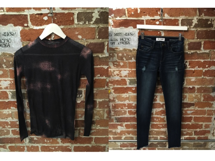 FINE Collection Tie Dye Shirt $128 DL1961 Emma Jeans in Allure $265
