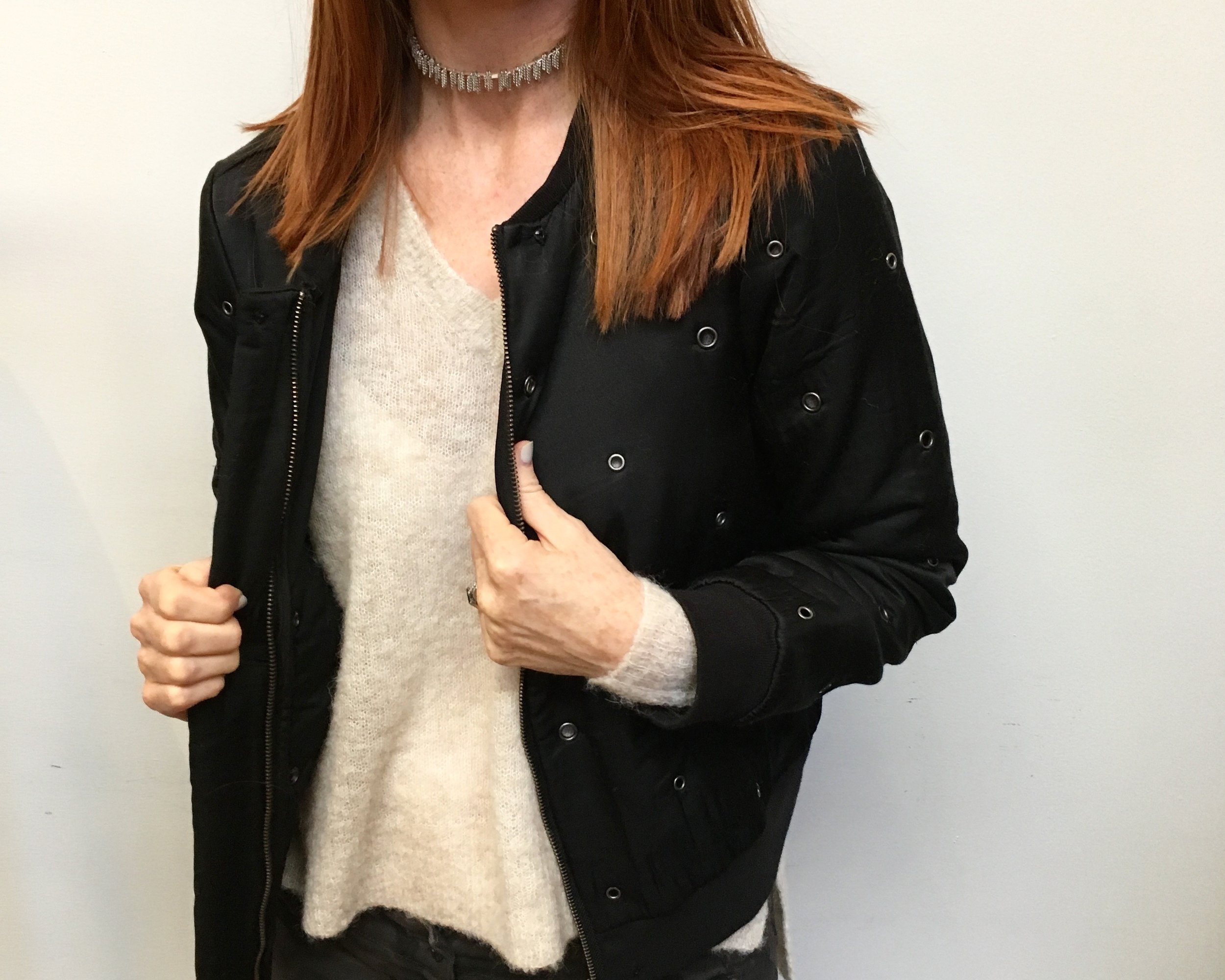 Velvet Bomber WAS $360  NOW  $252 LINE Cashmere Sweater WAS $299 NOW $209