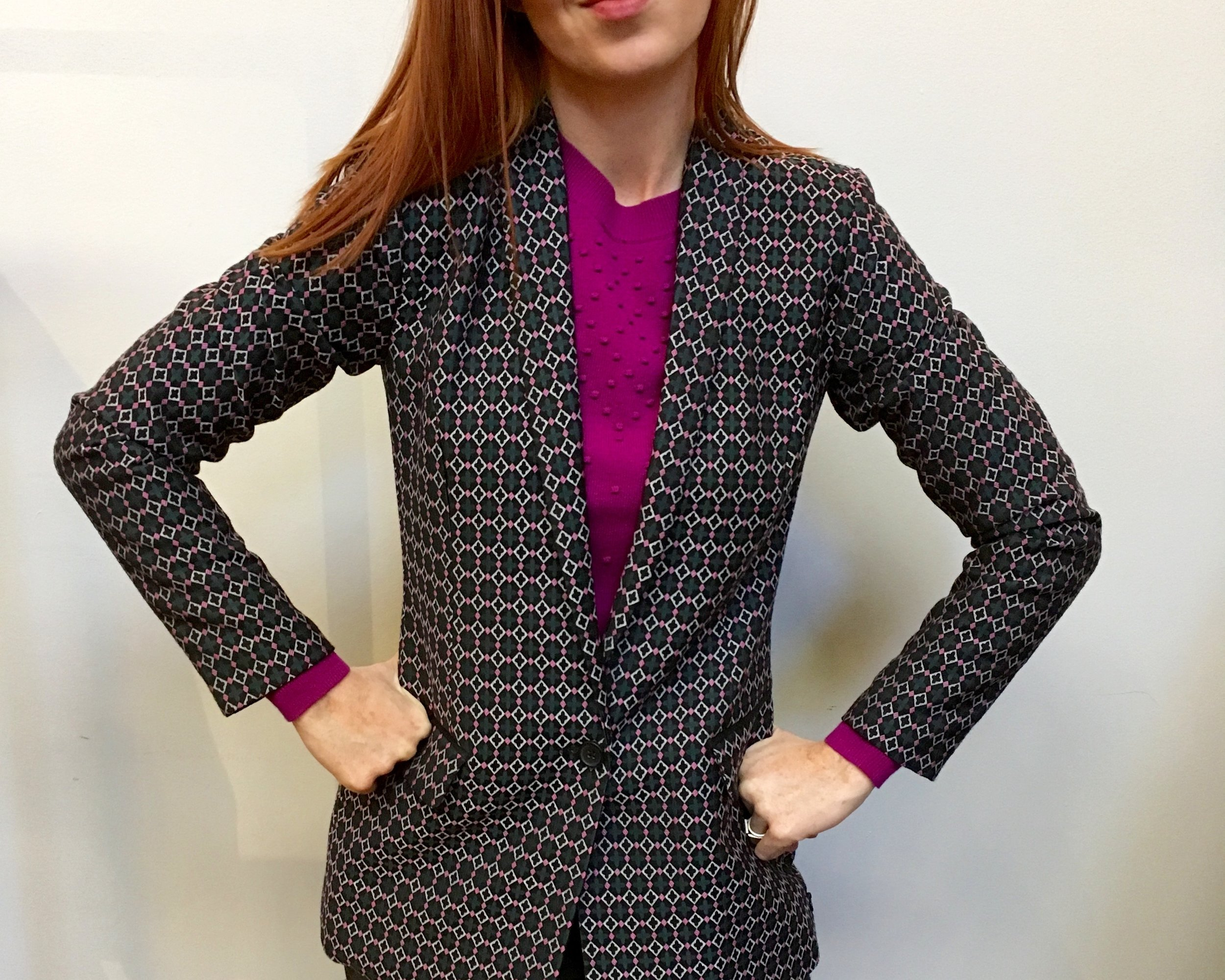 Ted Baker Sweater  WAS $229  NOW  $114 Maison Scotch Printed Blazer  WAS $289  NOW  $202