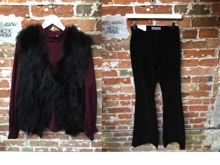 Fox The Label Fur Vest Restocked ! $359 James Jeans Velvet Flares $350