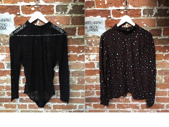 Just Female Bodysuit $119 Just Female Leopard Blouse $179
