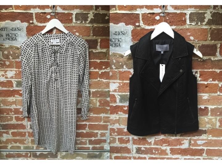 Velvet Tunic Dress $250 Cupcakes & Cashmere Leather Vest $158