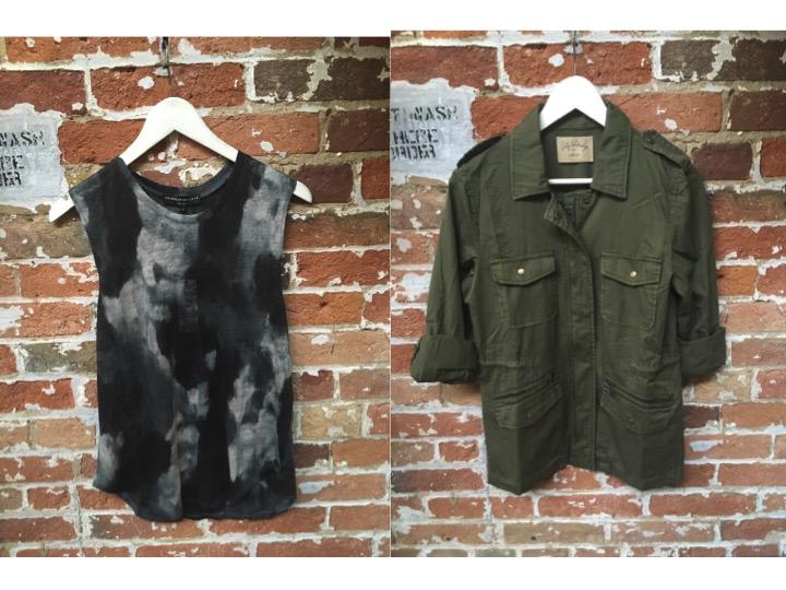 Generation Love Tye DyeTank $140 Lily Aldridge for Velvet Army Jacket $205