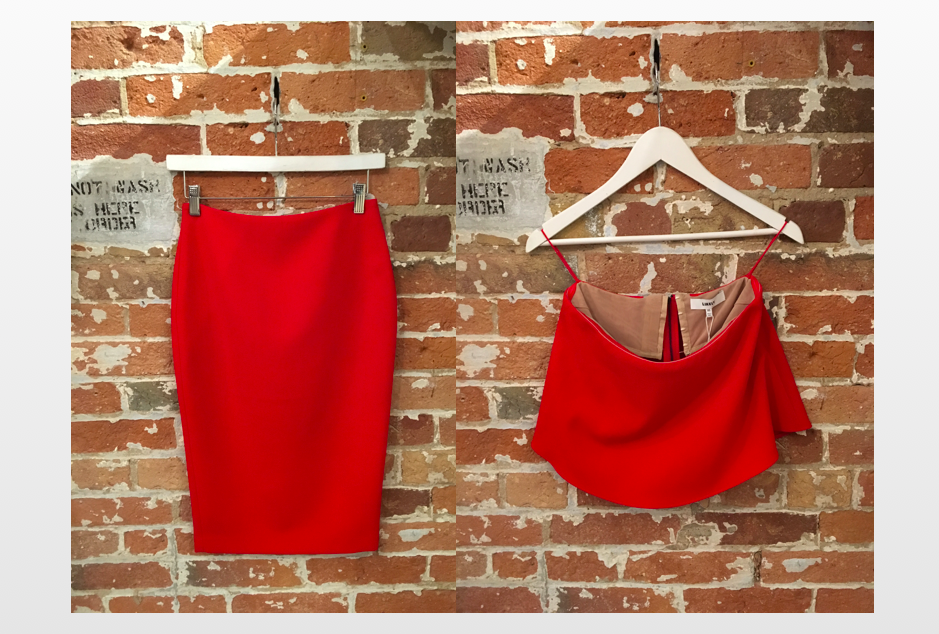 Likely Red Set - Top $172  Skirt $172