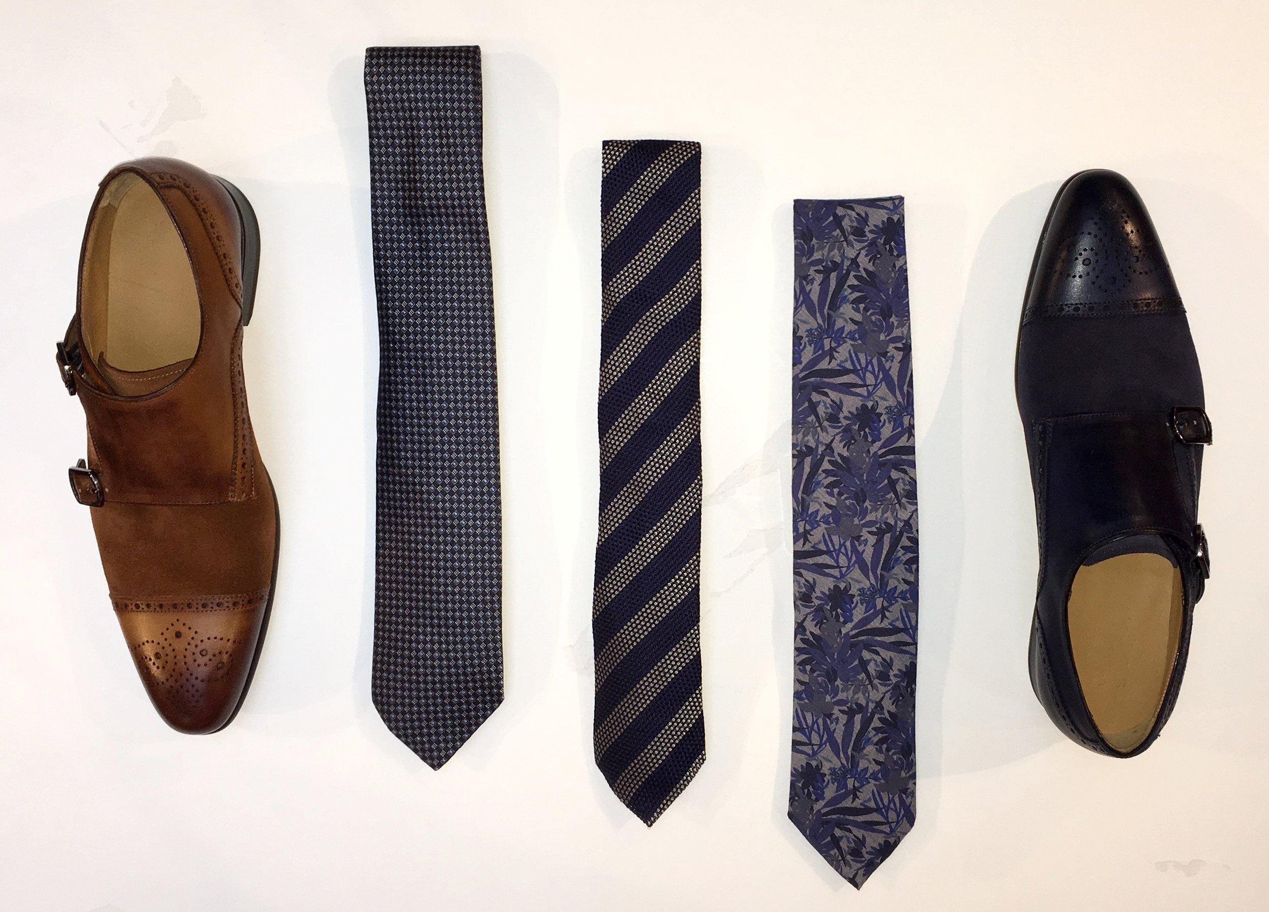 Van Gils Suede Monk Strap Shoes $496 Assorted Ties $95- $150