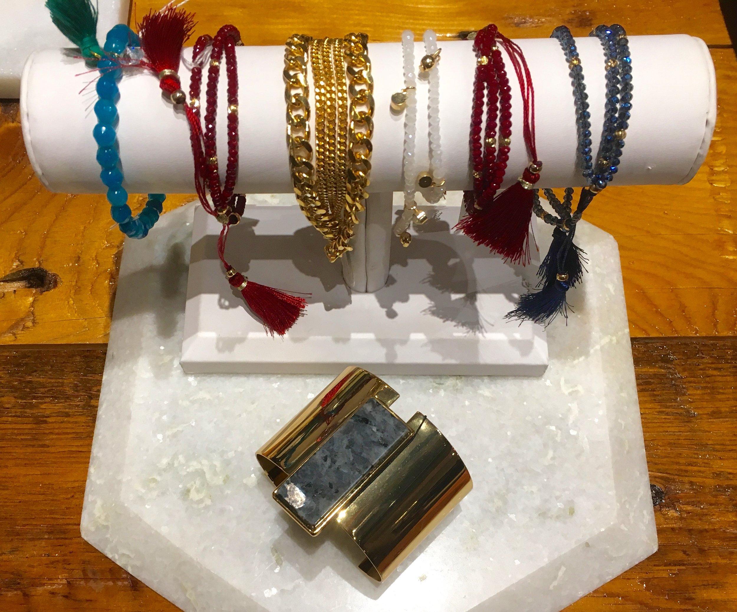 Biwa Bracelets $32 Liel & Lentz Funky Chain $125 Jenny Bird Cuff $145
