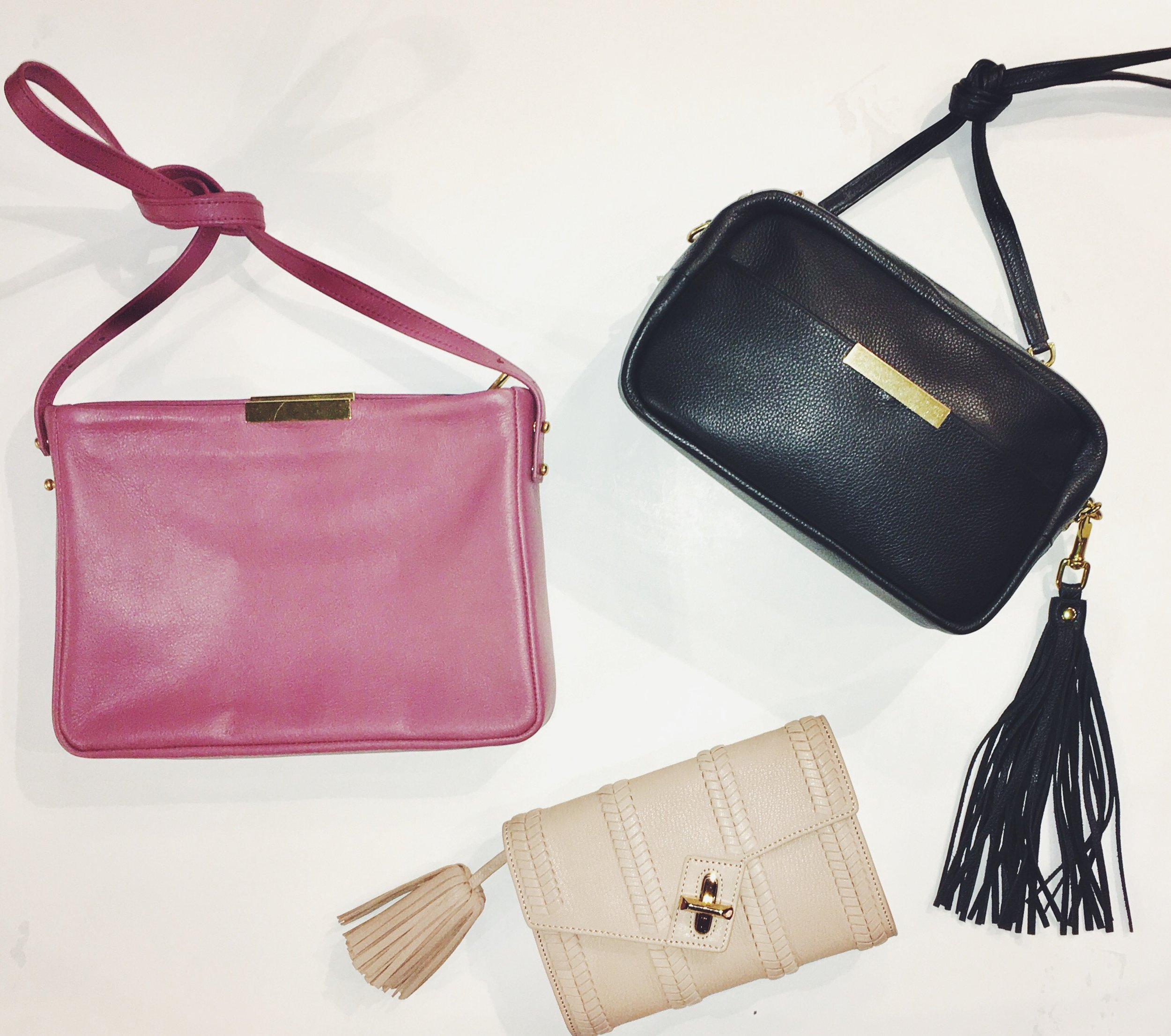 Opelle Leather Purses - $330 & $300 Ela Clutch $350